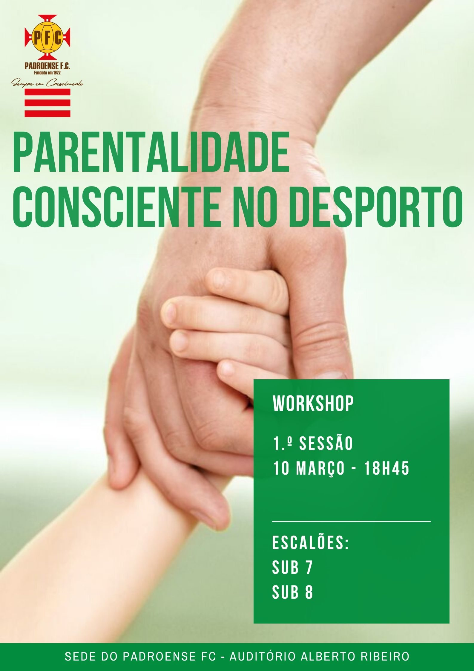 "Workshops sobre ""Parentalidade Consciente no Desporto"""