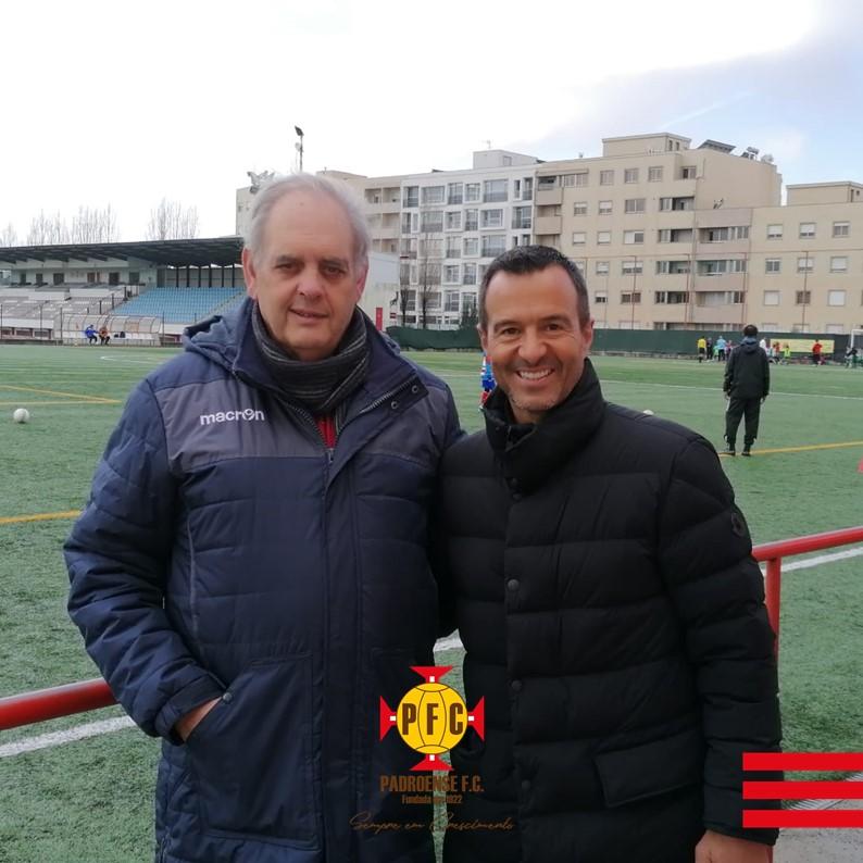 Jorge Mendes visita o Padroense FC