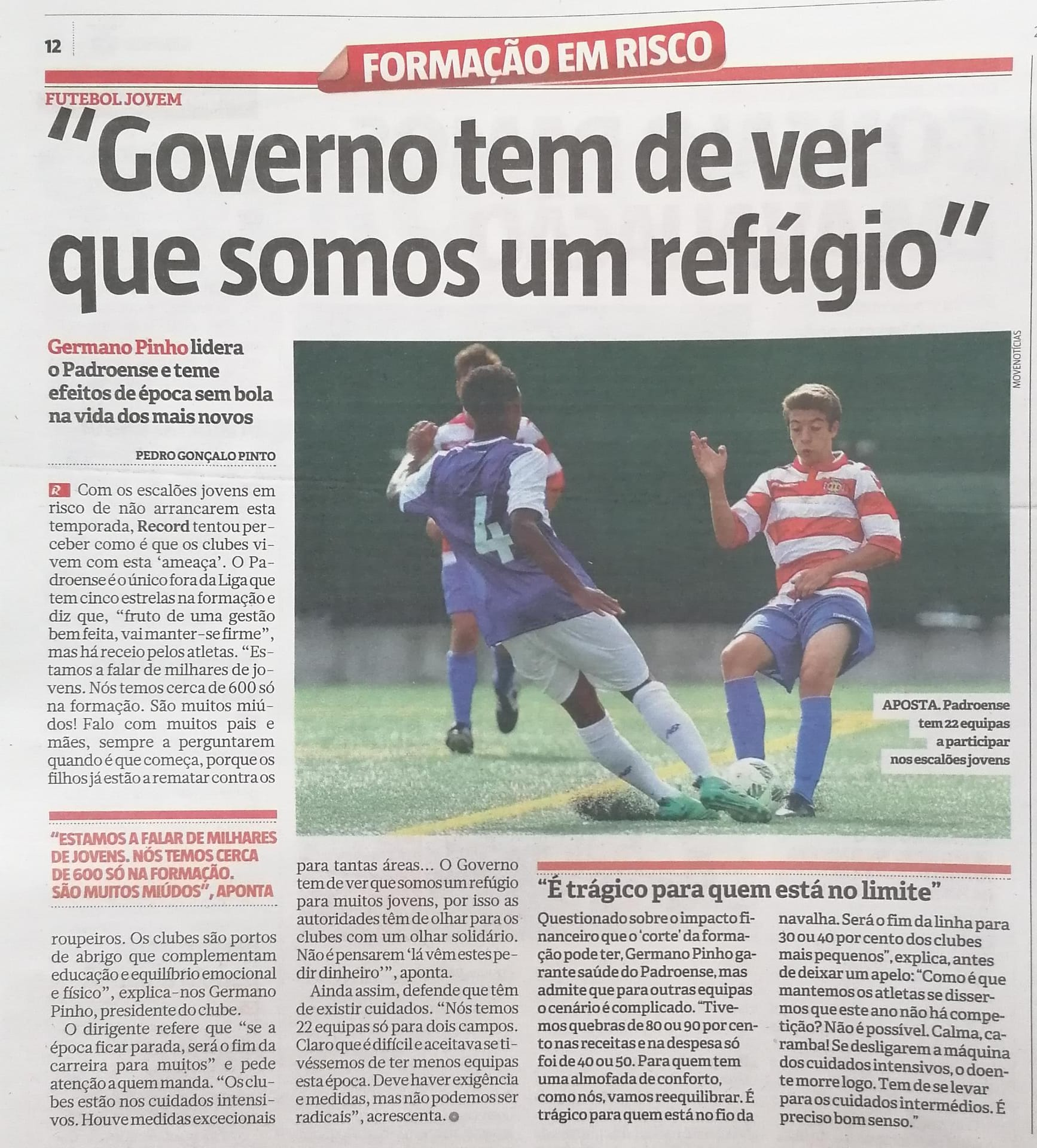 Record entrevista Germano Pinho