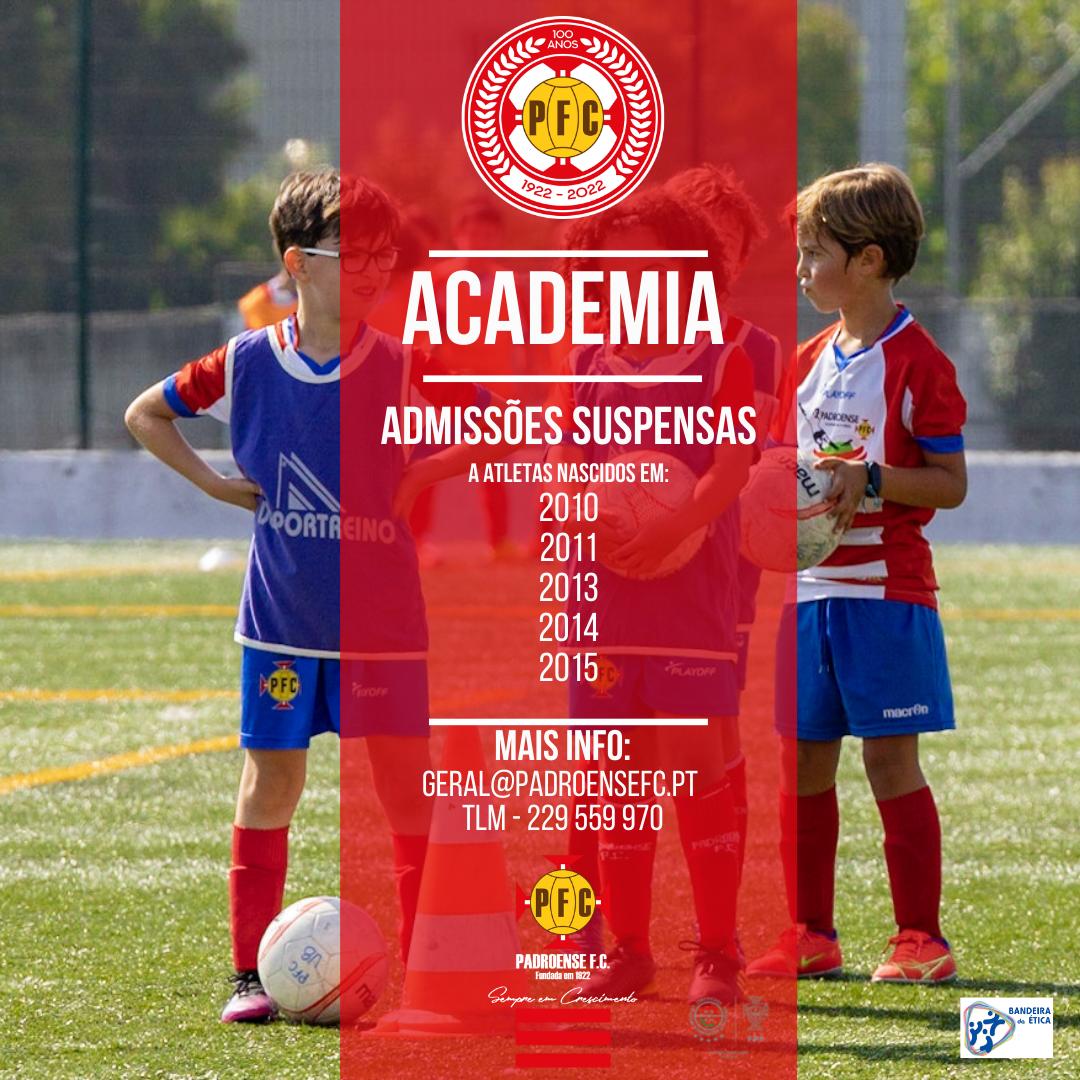 Academia – Admissões Suspensas